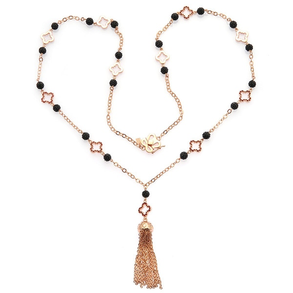 De Buman 18K Rose Goldplated & Ruby Necklace