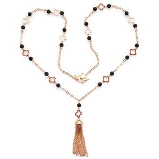 De Buman 18K Rose Goldplated & Ruby Necklace