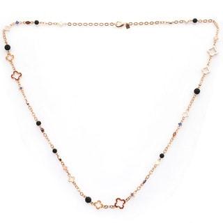 De Buman 18K Rose Goldplated & Sapphire Necklace