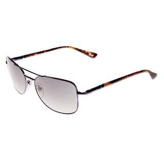 Persol PO2420S 104471 Aviator Gunmetal Sunglasses - Size 56