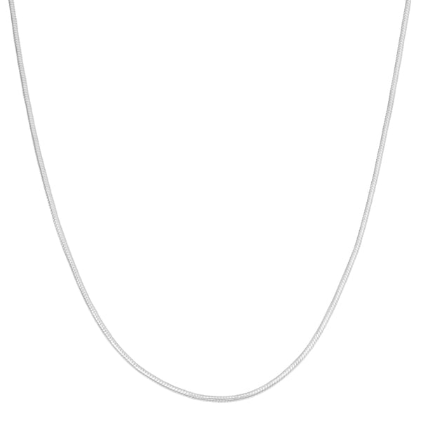 Fremada Sterling Silver High Polished Round Snake Chain Necklace (18 inch)