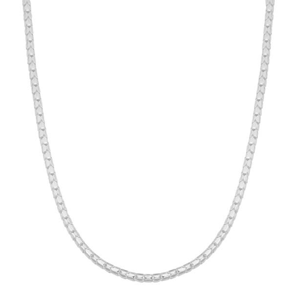 Argento Italia Sterling Silver 2-mm Diamond-cut Coreana Chain Necklace (18 inch)