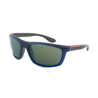 Prada Sport PS04PS-OAI3C0 Designer Polarized Sunglasses, Blue and Grey