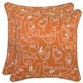 Better Living Modern Bird Orange and Cream 20-inch Decorative Feather Down Accent Pillow (Set of 2)