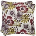 Portfolio Red Floral 20-inch Decorative Accent Pillow (Set of 2)