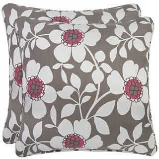 Portfolio Grey Floral 20-inch Decorative Accent Pillow (Set of 2)