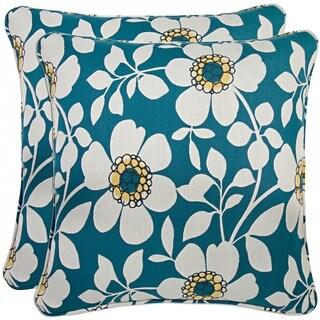 Portfolio Blue Floral 20-inch Decorative Accent Pillow (Set of 2)