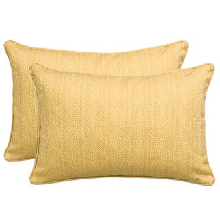Better Living Golden Yellow 24-inch Decorative Feather Down Accent Kidney Pillow (Set of 2)