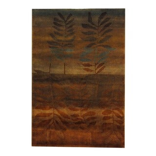Herat Oriental Indo Hand-knotted Tribal Tibetan Rust/ Light Blue Wool Rug (3'8 x 5'6)
