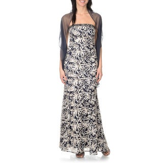 Ignite Evenings by Carol Lin Women's Gown with Scarf