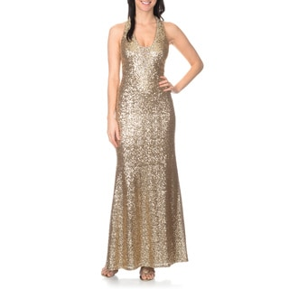 Ignite Evenings by Carol Lin Women's Sequin Halter Gown