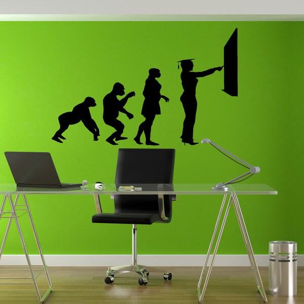School Education Evolution Sticker Vinyl Wall Art