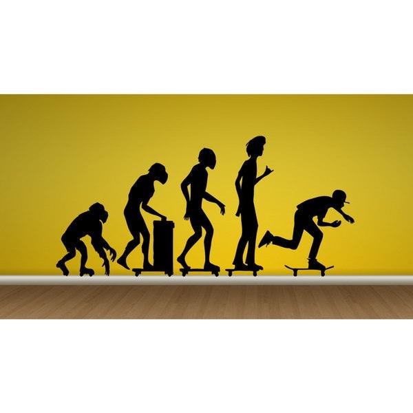Skateboarding skate Freestyle Evolution Sticker Vinyl Wall Art