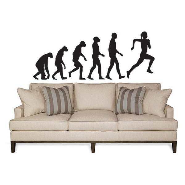 Crossfit Evolution Fitness Running Jogging Sticker Vinyl Wall Art