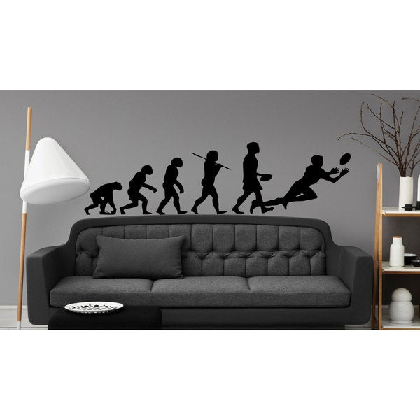 American Football Rugby Evolution Sticker Vinyl Wall Art