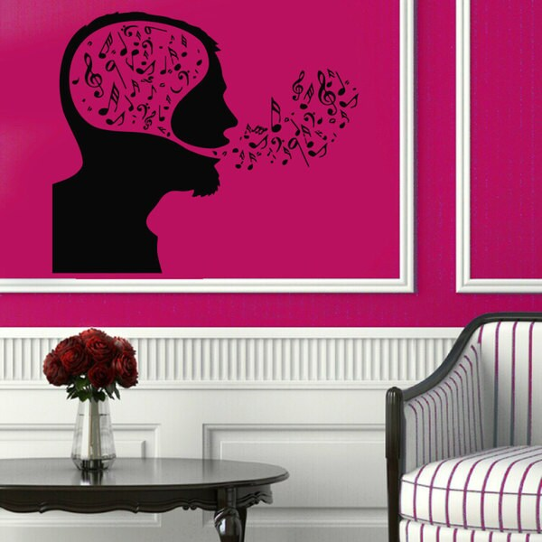 Breath Music Sticker Vinyl Wall Art