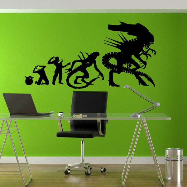 Alien Aliens Evolution Sticker Vinyl Wall Art