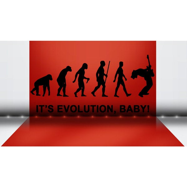 Rock R'n'R Evolution Sticker Vinyl Wall Art