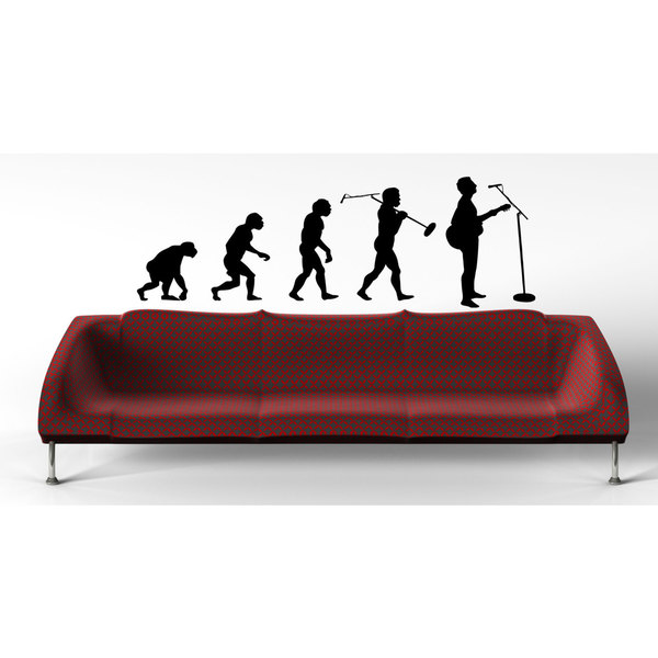 Music Rock R'n'R Evolution Sticker Vinyl Wall Art