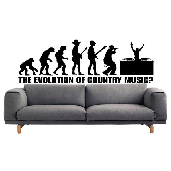 Country Music Evolution Sticker Vinyl Wall Art