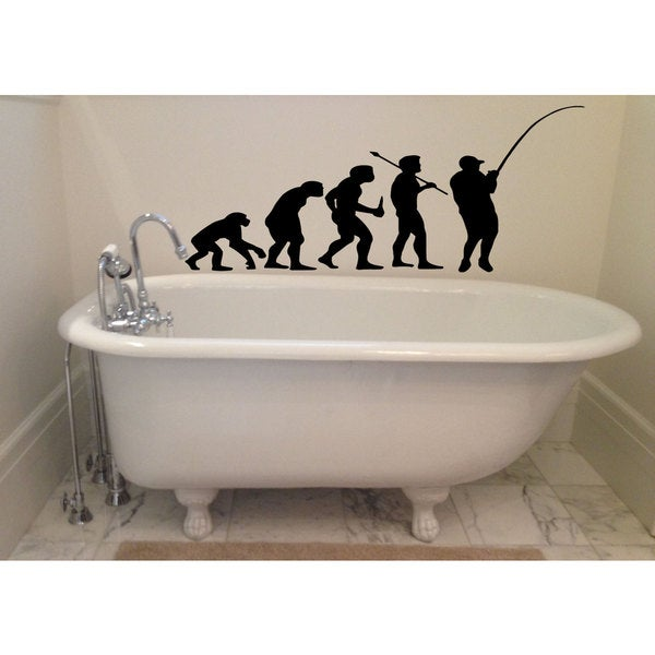 Fishing Evolution Sticker Vinyl Wall Art