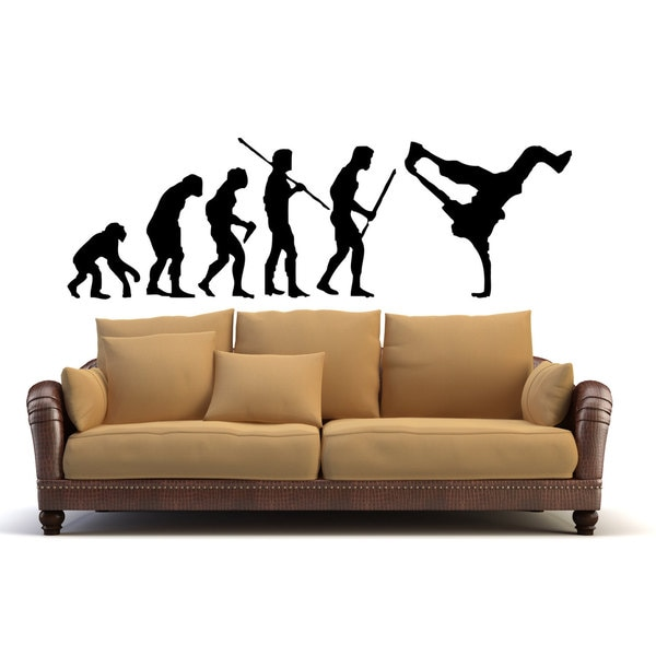 B-boying street dance Break Dance Evolution Sticker Vinyl Wall Art