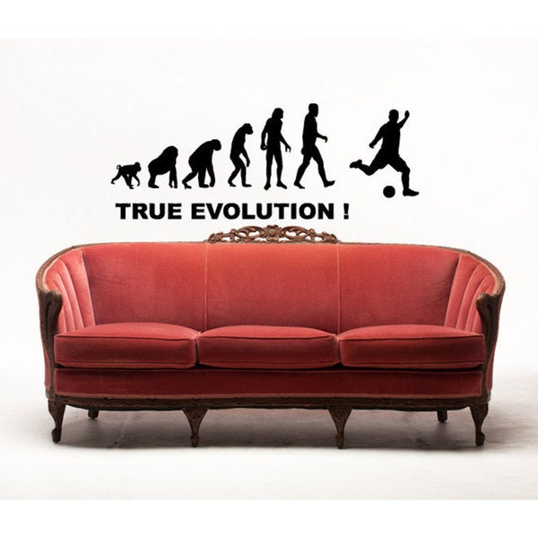 Soccer Evolution Sticker Vinyl Wall Art