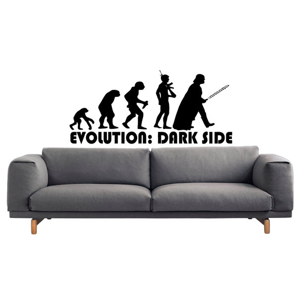 Darth Vader Evolution Sticker Vinyl Wall Art