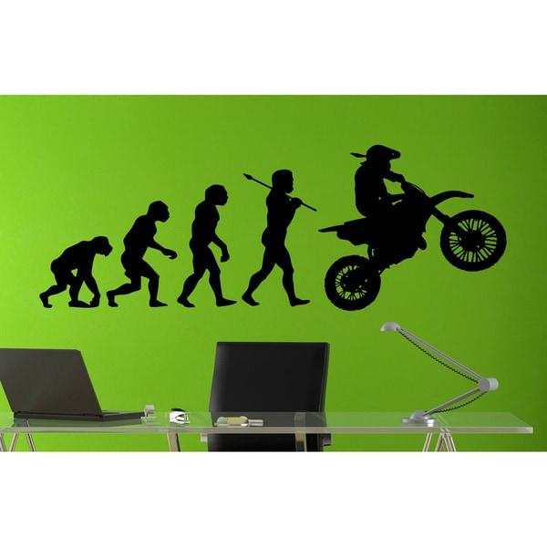 Motocross Dirt Bike Evolution Sticker Vinyl Wall Art
