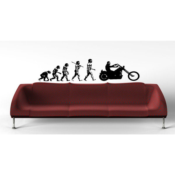 Motorcycle Bike Chopper Biker Evolution Sticker Vinyl Wall Art