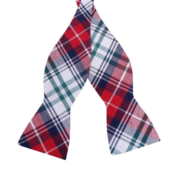 Skinny Bow Tie Madness Men's Plaid Bow Tie