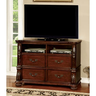Furniture of America Ellianne Traditional Brown Cherry Media Chest