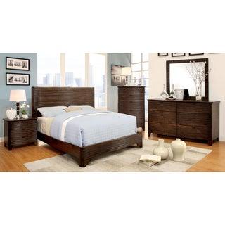 Furniture of America Titanean 4-piece Textured Rustic Bedroom Set