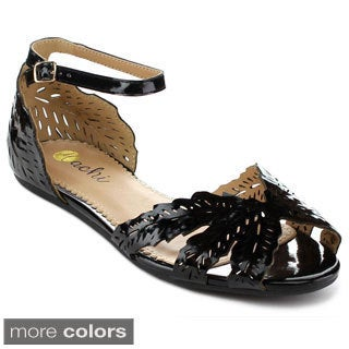 MACHI TESSA Women's Ankle Wrap Buckle Sandals