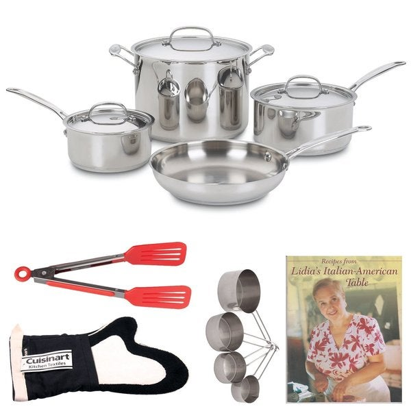 Cuisinart 77-7 Chefs Classic 7-piece Non-Stick Hard Anodized Cookware Set Bundle