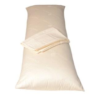 De Luxe Wool Body Pillow with Pillowcase