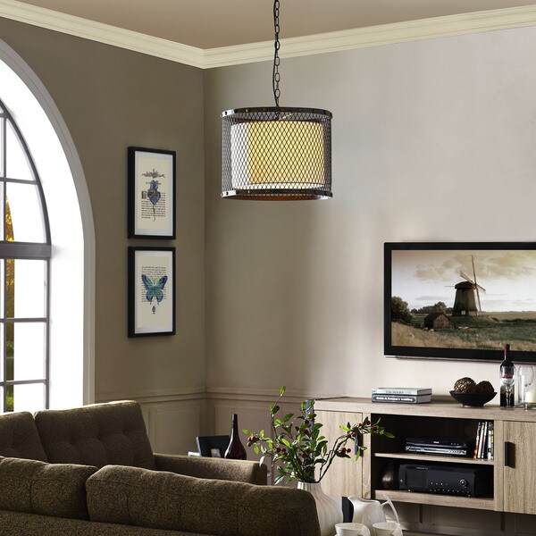 Fortune Industrial Modern Drum Shade Chandelier