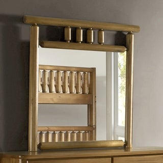 Timber Creek Log Mirror - Solid Wood - Finish Old Pine