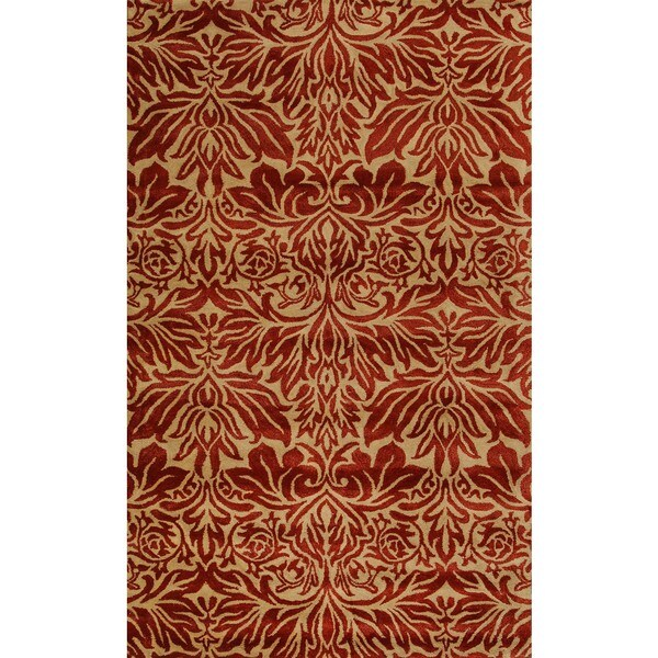 Flora Red 5x8 Area Rug