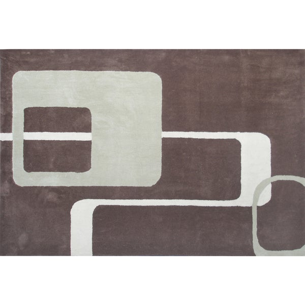 Retro Brown Area Rug (5' x 8')