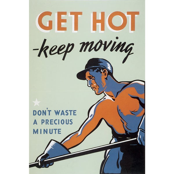 Marmont Hill Art Collective 'Get Hot Keep Moving' Canvas Art