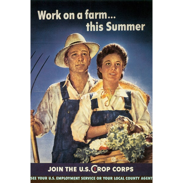 Marmont Hill Art Collective 'Join the U.S. Crop Corps' Canvas Art