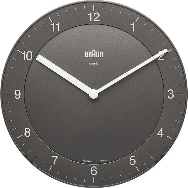 Braun Classic Quiet German Precision Quartz Grey Wall Clock