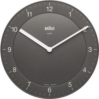 Braun Classic Quiet German Precision Quartz Grey Wall Clock