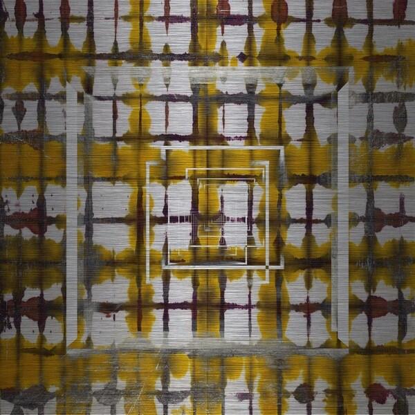 Marmont Hill 'Squares in Squares' Aluminum Art