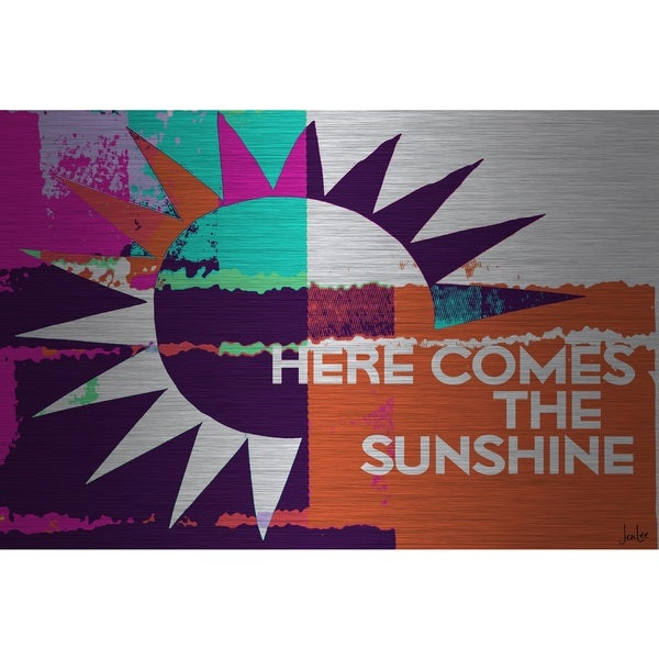 Marmont Hill 'Here Comes The Sunshine' Aluminum Art