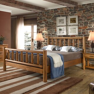 Timber Creek Queen Size Log Bed