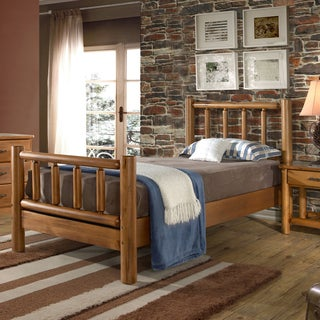 Timber Creek Twin Size Log Bed