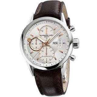 Raymond Weil Men's 7730-STC-65021 'Freelancer' Chronograph Automatic Brown Leather Watch