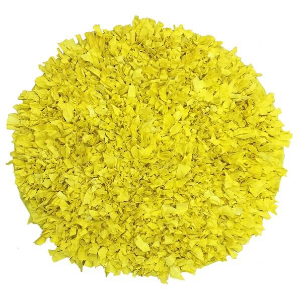 Jersey Shaggy 3Round Yellow Rug